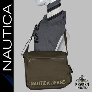 Nautica Jeans Military Green Messenger Bag